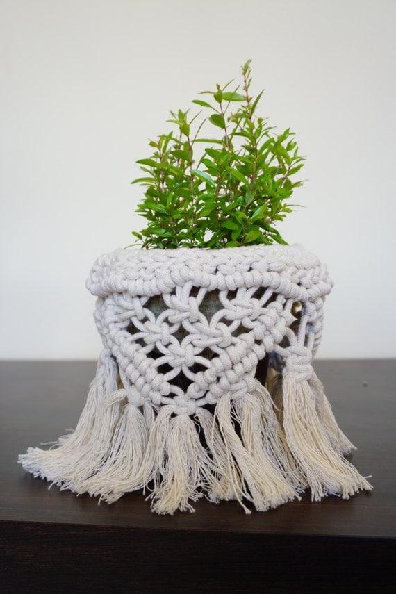 Macrame Plant Holder, Macrame Home Decor, Plant Pot Holder, Christmas Gift, Boho Home Decor, Plant Pot Basket