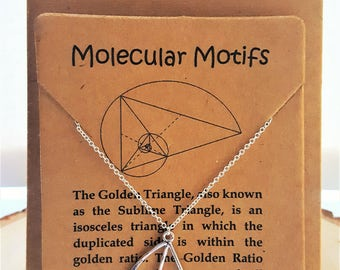 Fibonacci Necklace-Golden Ratio Necklace-Golden Triangle Necklace-Math Symbol-Sacred Geometry-Geometry Jewelry-Math Teacher Gift-Math Gift