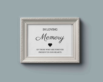 in loving memory sign template memorial table sign wedding, Powerpoint templates