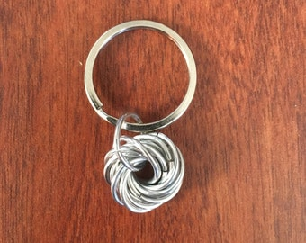 Mobius Knot Chain Maille Keyring