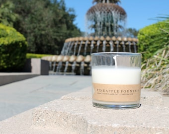 Pineapple Fountain Candle | Pineapple Sage Scented Soy Candle | 9 oz Soy Candle | Charleston SC Inspired Candles