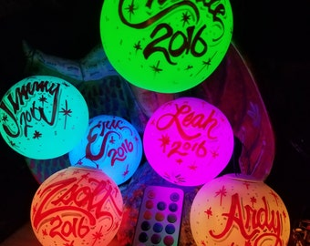 Multicolor LED Personalized Christmas Ornaments