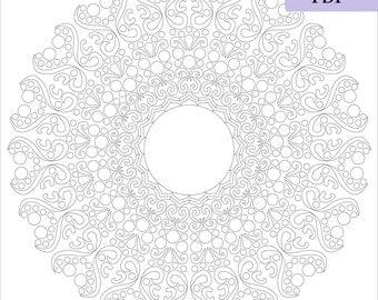 Mandala coloring page, Adult coloring page, Mandala download, Instant download, Printable mandala, Vector mandala