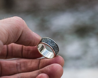 Triquetra Ring Celtic Symbol Ring Handmade Sterling Silver Celtic Jewelry
