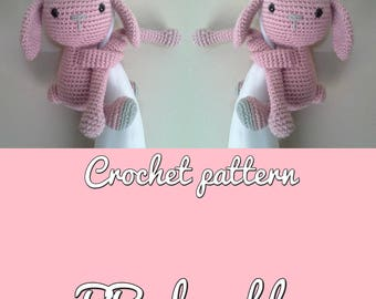 Bunny curtain tie back crochet pattern, Bunny tieback, PDF instant download PATTERN