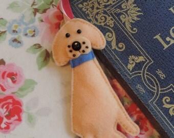 Felt Golden Labrador Dog Bookmark
