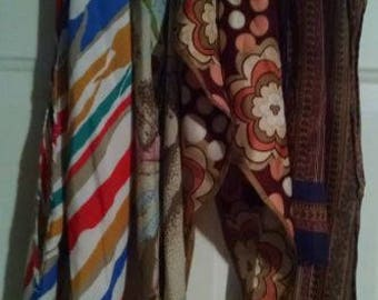 Lot of Four Vintage Scarves