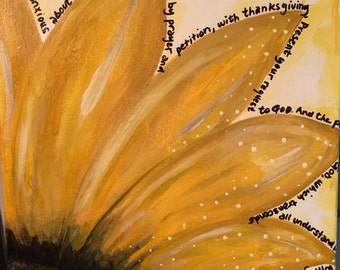Sunflower Painting  - Philippians 4:6-7