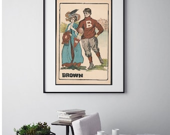 Brown University Vintage Print - Lady and Gentleman - Collegiate Collection