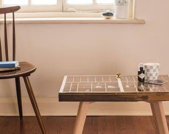 Printers Tray Glass Coffee Table