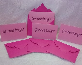 Stationery Set - Basic - With Optional Greeting Printed on Front of Card