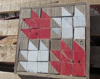 Maple Leaf Rustic Pieced Barn Quilt