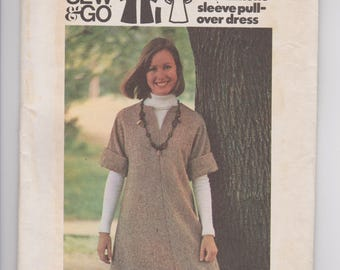 Butterick 3349 / Misses Dress / Size 14 / 70's Vintage Sewing Pattern