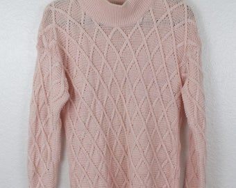 Sweet Oversized Baby Pink Sweater