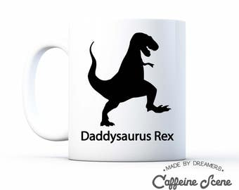 Daddysaurus Mug Pregnancy Announcement Funny Mug Daddy to Be Fathers Day Mug New Baby Shower Gift Favor Grandparents Reveal Coffee Cup