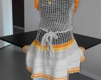UNIQUE exotic dress crocheted
