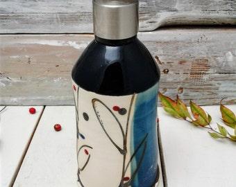 pottery soap dispenser, Soap pump, white, lotion pump