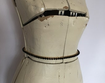 Stretch Belt Gold and Black Beaded Skinny Belt