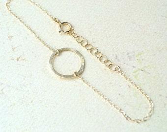 Eternity Bracelet - eternity circle bracelet, gold circle bracelet, dainty jewelry, eternity circle jewelry, minimalist