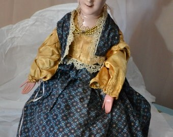 Composition Face Doll Cloth Body