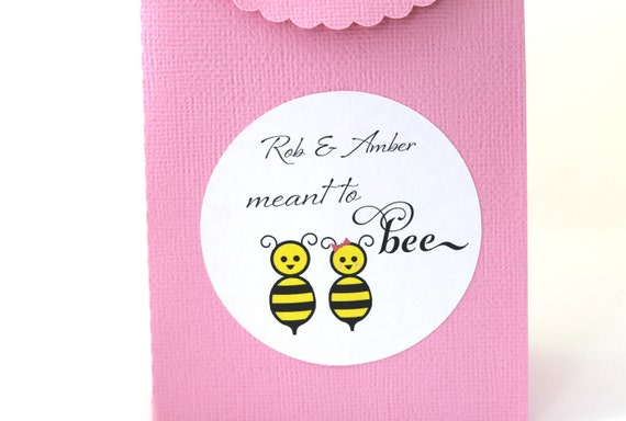 Meant to Be, Wedding Stickers, Personalized Stickers, Bee