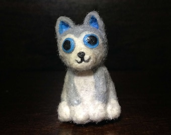 Adorable Polymer Clay Wolf Pup