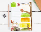 Daily Planner Notepad - To Do List Notepad - A5 Notepad - Hedgehog Stationery - Filofax Inserts - A5 Planner Inserts - Gift Planner Lover