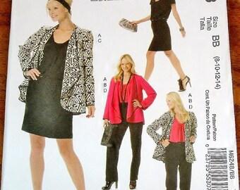Palmer Pletsch Sewing Pattern McCall's 6248 Draped Jacket Top Dress Pants Womens Miss Coordinates Size 8 10 12 14 Bust 31 32 34 36 Uncut FF