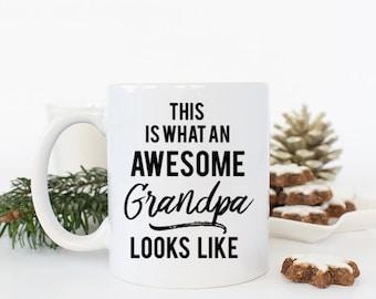 Awesome Grandpa Coffee mug, Grandpa Mug, Grandpa Gift, This is what an Awesome Grandpa looks like, Grandpa Fathers Day Mug Dad gifts for Him