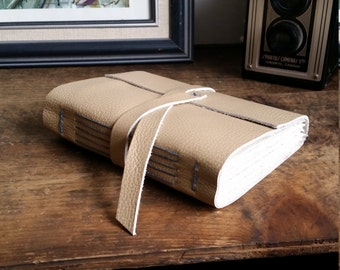 Handmade Leather Journal, Light Brown 4.75 x 6 by The Orange Windmill on Etsy 1783