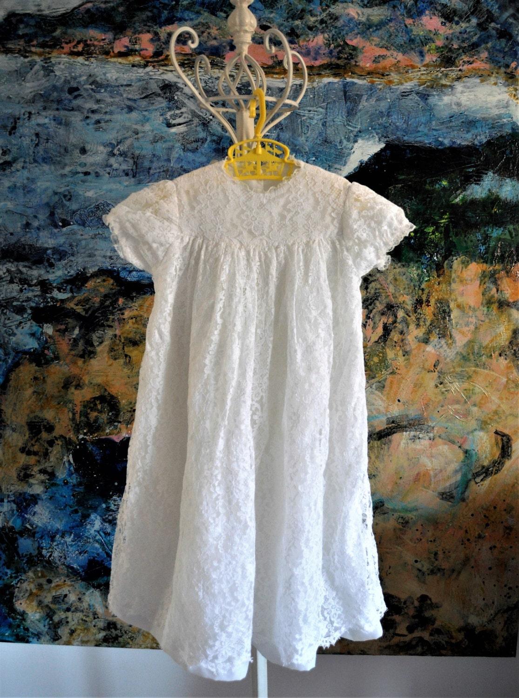 Baptism Dress, Christening Gown, Vintage Baptism Gown, Christening ...