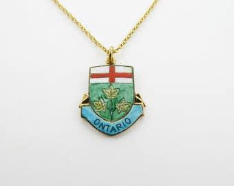 Ontario Necklace - Ontario Pendant Necklace -  Canada Necklace