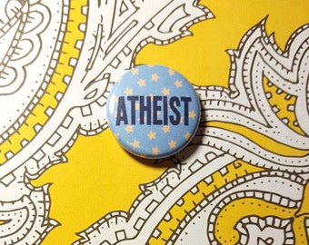 Atheist Stars Pinback Button or Magnet