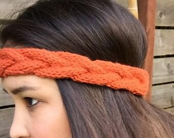 Thin Braided Knit Headband