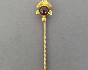 Antique Victorian 14K Gold and Garnet Stylized Arrow / Arrowhead Stick Pin - Choose Your Own Customization