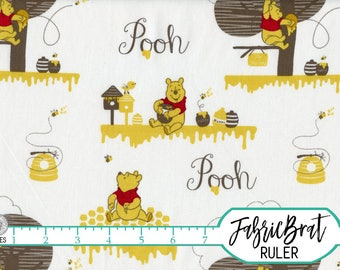 DISNEY WINNIE the POOH Fabric by the Yard, Fat Quarter Pooh Bear Bees & Honey Pots Quilting Fabric Apparel Fabric 100% Cotton Fabric t5-25
