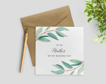 Mother of the Bride Card, To My Mother in Law on My Wedding Day, To My Father In Law Gifts, SKU: WYB001
