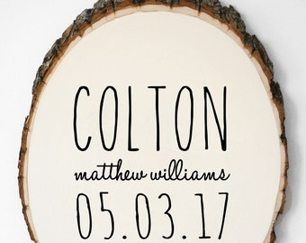 Personalized Baby Gift, Baby Announcement Sign, Birth Stat Woodland Nursery Decor, Newborn Photography Prop, Birth Announcement Wall Art