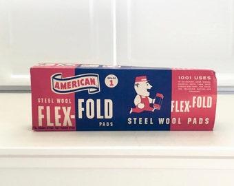 Antique Flex Fold Steel Wool Pads, in Box