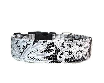 Black Lace , Dog Collar , Cat Collar , Martingale Collar , Buckle Collar , Chain Martingale , Breakaway Cat Collar