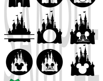 SALE!! Disney Castle Svg, Princess Svg, Princess Castle Svg, Monogram Svg, Disney Svg, Minnie, Magic kingdom, Svg Files