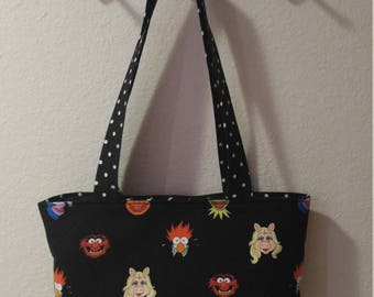 Muppets Fabric Purse with Pleather Bottom