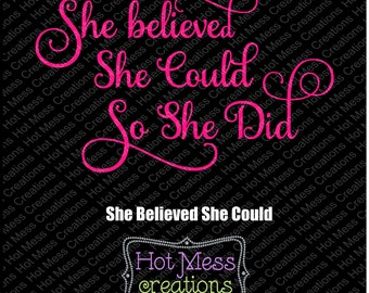 She Believed She Could So She Did SVG Download Cut File