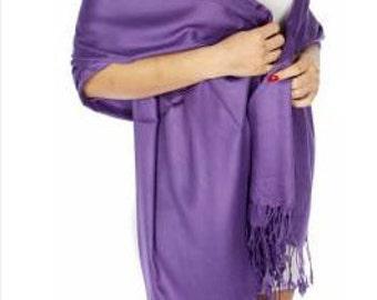 Purple pashmina scarf - purple bridal shawl - purple bridal scarf - purple bridesmaid gift