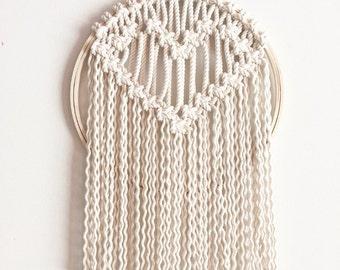 Macrame Heart Wall Hanging/Tapestry/Weaving