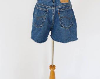 VTG Orange Tab Levi's 920 High Waist Denim Shorts