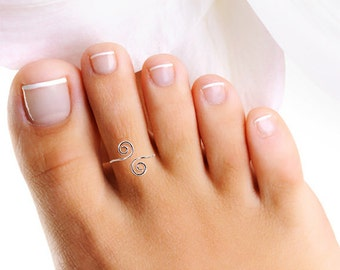 Silver Toe Ring, Sterling Toe Ring, Wire Toe Ring, Thin Toe Ring, Silver Pinkie Ring, Simple Toe Ring, Small Toe Ring, Toe Rings