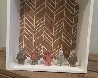 Concrete lego minifigure