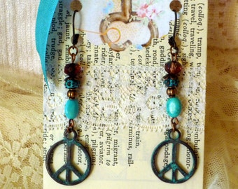 Peace Bead Earrings