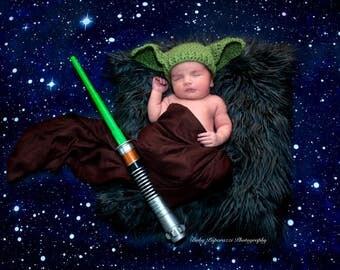 Yoda Hat Star Wars Hat Baby Size Newborn 0 3m 6m  Crochet Photo Prop Clothes Boys Girls Gender Neutral POPULAR Worldwide Dads Favorite